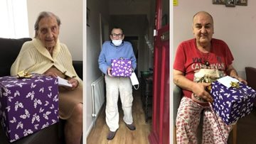 Newcastle care home gift Christmas hampers to local community