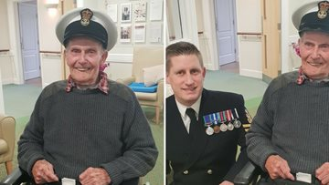 A Royal Navy Veteran has a 94th birthday to remember