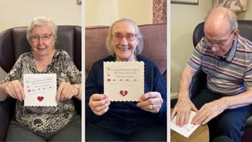Stirlingshire Residents discuss love while crafting Valentine's Day cards