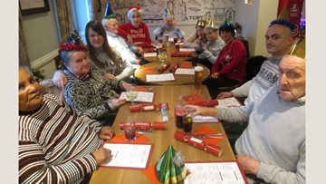Festive celebrations at Aberford Hall as Residents enjoy Christmas dinner together