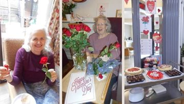 Nottingham care home Residents receive beautiful Valentine's Day roses