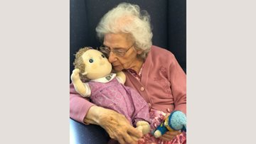 Doll brings comfort to Resident with dementia