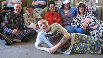 Comic Relief at Hinckley care home