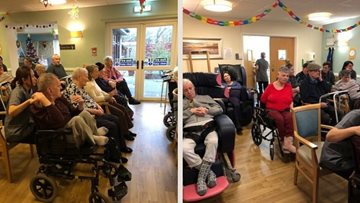 School Christmas choir performance delights at Arbroath care home