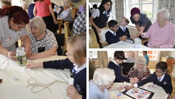Hayes care home welcomes local schoolchildren for interactive session