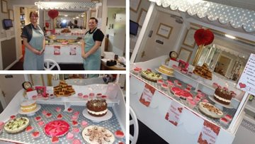 Valentine's Day celebrations at Stanley care home