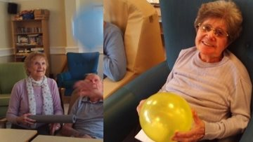 Balloon game gets Residents exercising