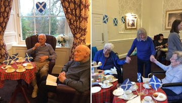 Edinburgh care home host St Andrew's Day celebrations