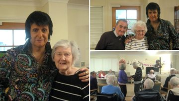 The King of Rock and Roll pays a visit to Durham care home