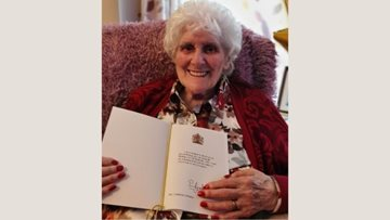 Ferryhill care home Resident receives telegram off the Queen as she turns 100