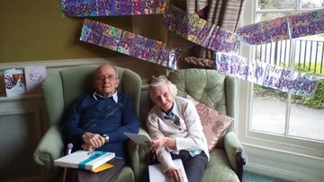 Couple in Leeds care home celebrate 65th wedding anniversary together