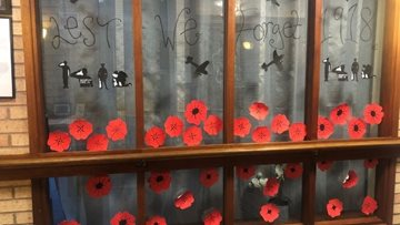 Remembrance day at Coventry care home