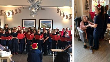 Christmas celebrations are in full swing at Swansea care home