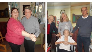 Valentine's Day celebrations at Walsall care home