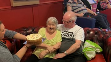 Birthday celebrations in full swing at Manchester care home