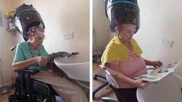 Residents at Wigston care home amazed with pamper session