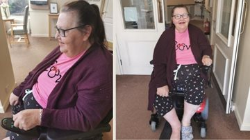 New electric wheelchair for Resident brings joyful tears at Derby care home