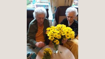Flowers of fun for Chaseview care home Residents