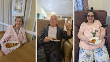 Falkirk care home Residents enjoy PJs and pizza day