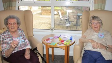 Mother's Day preparations at Penrith care home