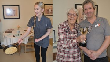 White Gables Residents Celebrate Shrove Tuesday