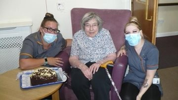 Wallyford care home Resident celebrates 89th birthday