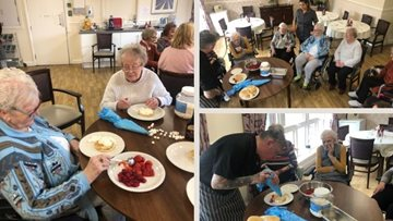 Greenock care home enjoys 'flipping good' Pancake Day