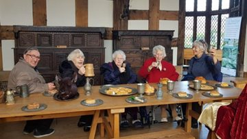 Sandon House travels back in time with Ordsall Hall visit