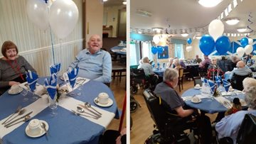 Stirling care home hosts St Andrew's Day celebrations