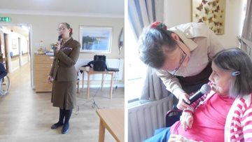 Eccles care home marks Remembrance Day with wartime sing-along