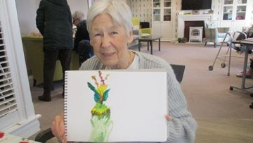 Resident rediscovers passion for painting at Peterlee care home