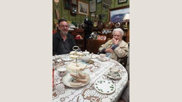Burntwood care home Residents visit local tea room