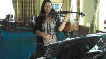 Residents enjoy violin recital at Bexhill-on-Sea care home