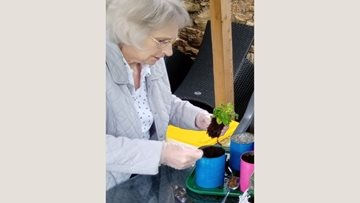 Residents spend time sprucing up the garden at Sheffield home