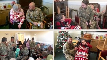 St Andrews care home Residents enjoy festive visit from British Army