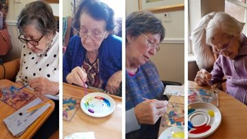 Tameside care home enjoys arts and crafts