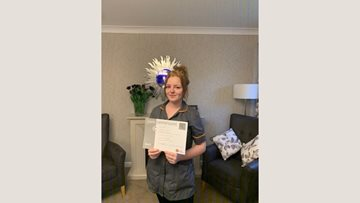 Dartford care home Colleague receives care award