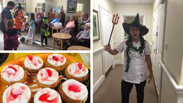 Fangtastic Halloween party at Westbury care home