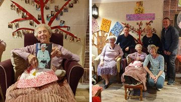 100 birthday candles at Huddersfield care home
