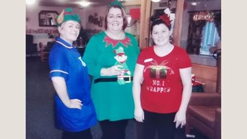 Bellshill care home supports Alzheimer's Society with Elf Day