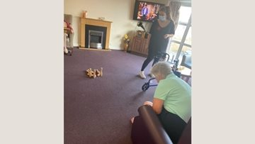 Fun and games at Nottingham care home
