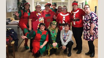 Residents join family and friends for Yew Trees Christmas Fair