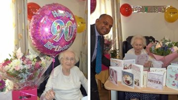 Resident celebrates 90th birthday at Chelmsford care home