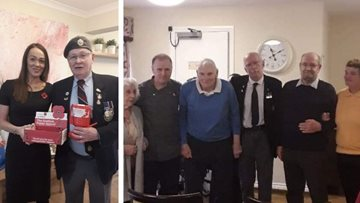 Hamilton care home remembers fallen heroes on Remembrance Day