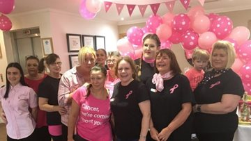 Guisborough care home wears pink in support of breast cancer charity