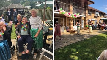 Hawaiian celebrations at Larchwood care home