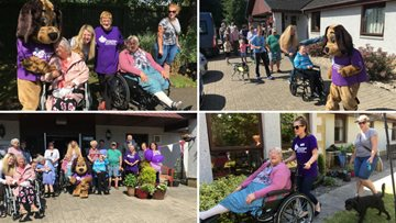 Inverness care home walk a mile for Alzheimer Scotland