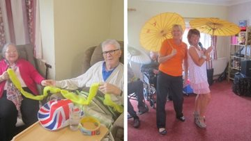 Afternoon entertainment at Himley Mill care home