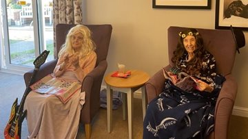 Residents enjoy baking and dressing up at Kent care home