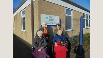 The Elms care home Residents visit local school